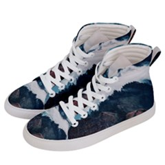 Foggy Whale Women s Hi Top Skate Sneakers by goljakoff