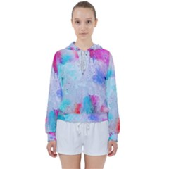 Rainbow Paint Women s Tie Up Sweat by goljakoff