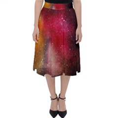 Red Space Classic Midi Skirt