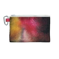 Red Space Canvas Cosmetic Bag (medium)