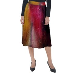 Red Space Classic Velour Midi Skirt  by goljakoff