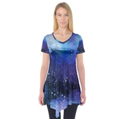 Blue Space Short Sleeve Tunic