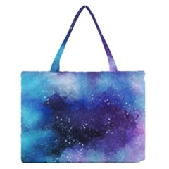 Blue Space Zipper Medium Tote Bag by goljakoff