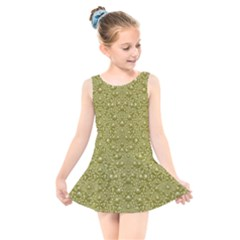 Baroque Pearls In Ornate Decorative Bohemian Style Kids  Skater Dress Swimsuit
