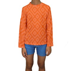 Orange Maze Kids  Long Sleeve Swimwear