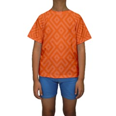 Orange Maze Kids  Short Sleeve Swimwear