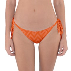 Orange Maze Reversible Bikini Bottom