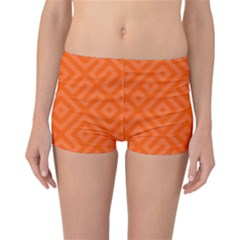 Orange Maze Reversible Boyleg Bikini Bottoms
