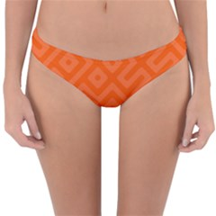 Orange Maze Reversible Hipster Bikini Bottoms
