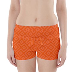 Orange Maze Boyleg Bikini Wrap Bottoms by retrotoomoderndesigns