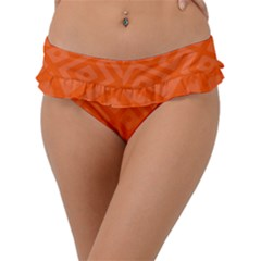 Orange Maze Frill Bikini Bottom