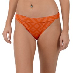 Orange Maze Band Bikini Bottom