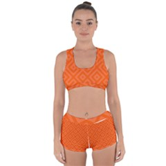 Orange Maze Racerback Boyleg Bikini Set