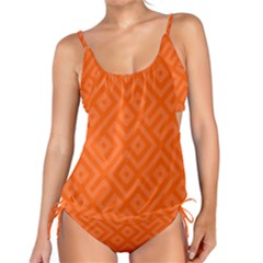 Orange Maze Tankini Set