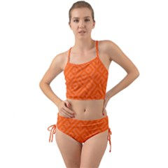 Orange Maze Mini Tank Bikini Set