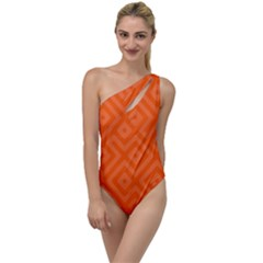 Orange Maze To One Side Swimsuit
