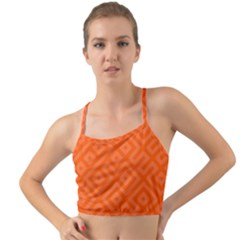 Orange Maze Mini Tank Bikini Top