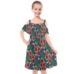 Figs And Monstera  Kids  Cut Out Shoulders Chiffon Dress by VeataAtticus