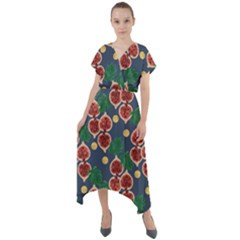 Figs And Monstera  Short Sleeve Wrap Front Maxi Dress by VeataAtticus