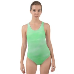 Mint Watercolor Cut-Out Back One Piece Swimsuit