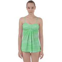 Mint Watercolor Babydoll Tankini Set by retrotoomoderndesigns