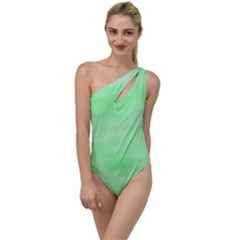 Mint Watercolor To One Side Swimsuit