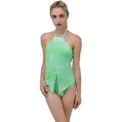 Mint Watercolor Go with the Flow One Piece Swimsuit