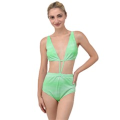 Mint Watercolor Tied Up Two Piece Swimsuit