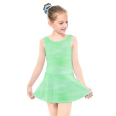 Mint Watercolor Kids  Skater Dress Swimsuit by retrotoomoderndesigns