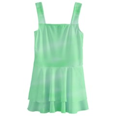 Mint Watercolor Kids  Layered Skirt Swimsuit