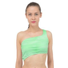 Mint Watercolor Spliced Up Bikini Top  by retrotoomoderndesigns