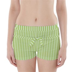 Lime Stripes Boyleg Bikini Wrap Bottoms by retrotoomoderndesigns