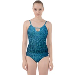 Turquoise Blue Ocean Cut Out Top Tankini Set