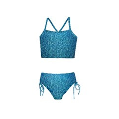 Turquoise Blue Ocean Girls  Tankini Swimsuit