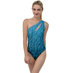 Turquoise Blue Ocean To One Side Swimsuit