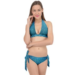 Turquoise Blue Ocean Tie It Up Bikini Set