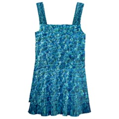 Turquoise Blue Ocean Kids  Layered Skirt Swimsuit