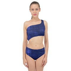 Blue Grunge Spliced Up Two Piece Swimsuit by retrotoomoderndesigns