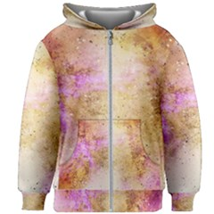 Golden Glitter Kids  Zipper Hoodie Without Drawstring by goljakoff