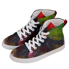 Abstract Painting Men s Hi Top Skate Sneakers by goljakoff