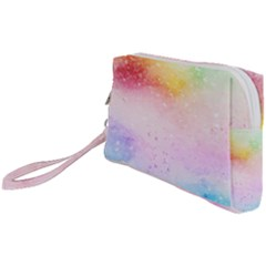Rainbow Painting Drops Wristlet Pouch Bag (small) by goljakoff