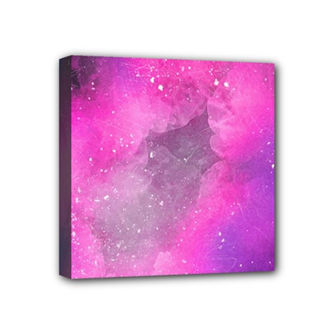Purple Space Mini Canvas 4  X 4  (stretched)