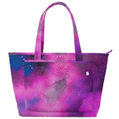 Purple Space Back Pocket Shoulder Bag