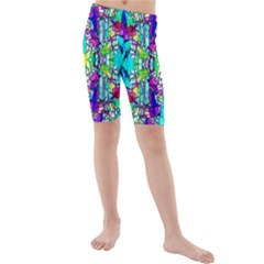 Colorful 60 Kids  Mid Length Swim Shorts