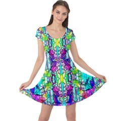 Colorful 60 Cap Sleeve Dress
