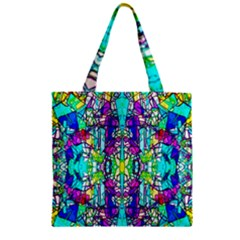 Colorful 60 Zipper Grocery Tote Bag
