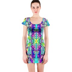Colorful 60 Short Sleeve Bodycon Dress