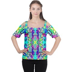 Colorful 60 Cutout Shoulder Tee