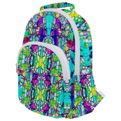Colorful 60 Rounded Multi Pocket Backpack