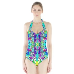 Colorful 60 Halter Swimsuit